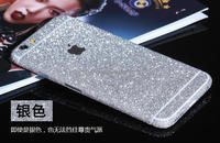 Custom bling glitter mobile phone sticker for iphone 6 6 plus , 3M gule glitter diamond full body decal stickers for iphone 6s
