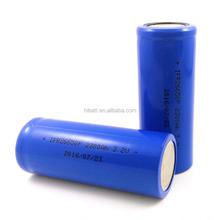 lithium ferro-phosphate battery 26650 2300mAh 3.2V high power lifepo4 battery 26650 discharge current 35-60A