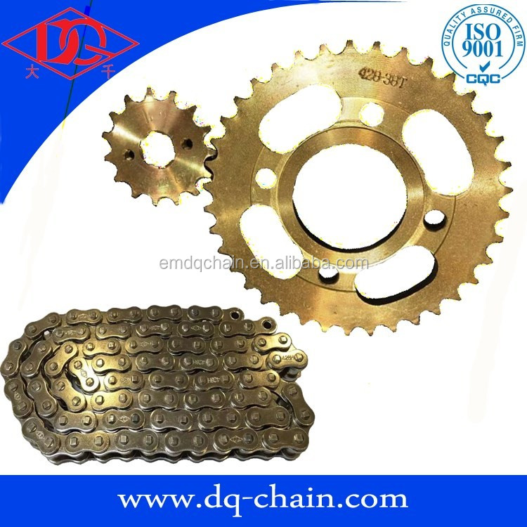 motorcycle chain and sprocket kit CG125 motocycle spare part