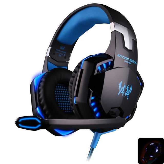 EACH G2000 Gaming Headset Stereo Surrounded Headband Headphones with Microphone LED Light Fone De Ouvido for Computer PC Gamer