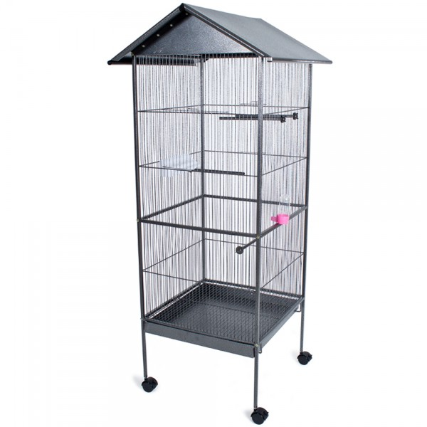 wholesale metal frame parrot bird cages with water fountain