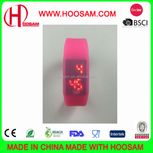 Fashionable cheaper waterproof silicone digital Led watch for sports