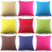 2015 New Warm Winter Softy Candy Colors 100% Cotton Canvas Decorative Sofa Cushion Cover Pillow Case HT-CCDC-01