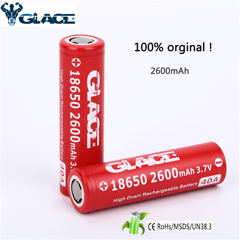 fast delivery IMR18650 40A Li ion 2600mah Battery for camera pen flash light