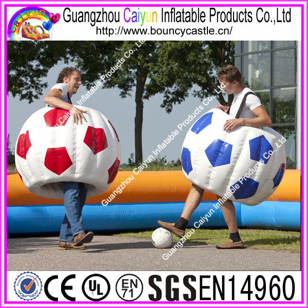 New design inflatable soccer suits inflatable ball suits for soccer play