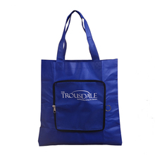 Custom recycled pp non woven folding shopping bag