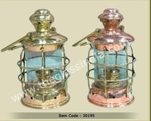 Brass and copper ships lanterns