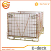 Collapsible Lockable Welded wire mesh basket cage for cargo and storage equipment