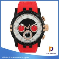 china factory discount many color silicone mens rubber watches