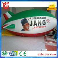 2016 newest inflatable advertising balloon , inflatable led light blimp , inflatable helium airship with blower