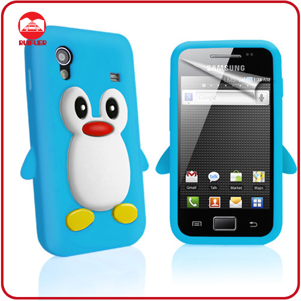 High Quality Fancy Penguin Skin Silicone Animal Designed 3D Case for Samsung S5830 Galaxy Ace