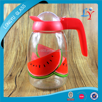 heat resistant glass water jug with lid