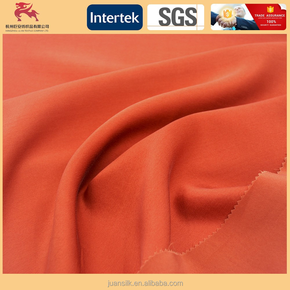 19MM Pure silk satin fabric plain dyed width:44""