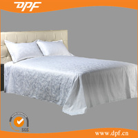 Top End Star Hotel Jacquard Flat Bed Sheet For Double Bed