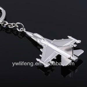 Promotional Aeroplane Metal Key Ring