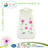 Wholesale warm soft embroidered sleeping bag for newborn babies