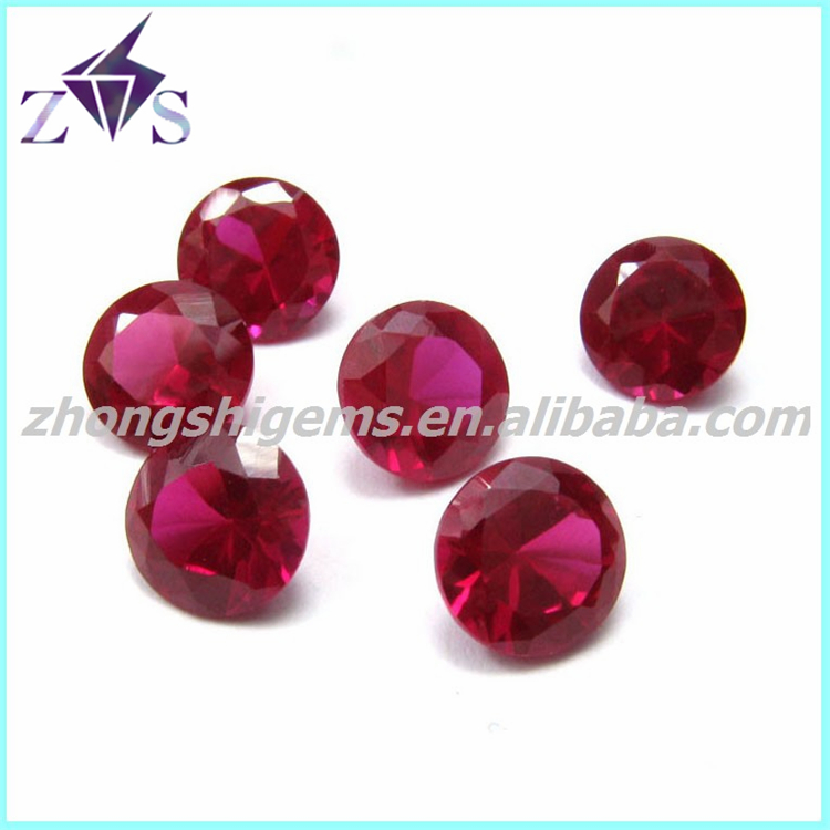Wuzhou Factory Round Synthetic Corundum Rough