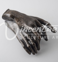 high imitation bronze metal two hand abstract sculpture reproduction