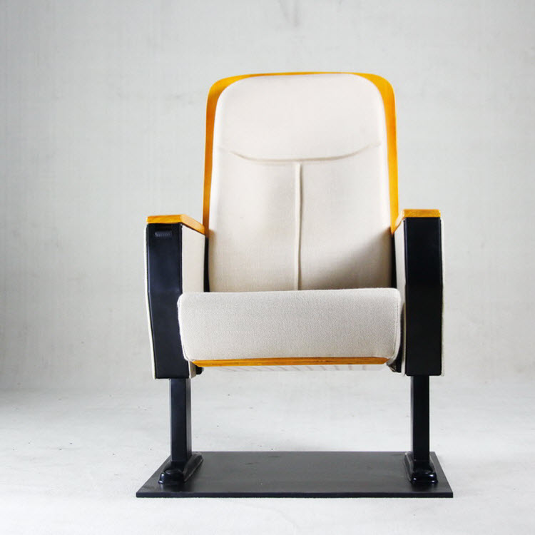 Hot Sell Auditorium Chair With Wood Cover