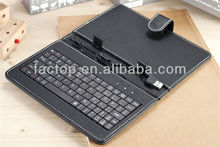 7 inch tablet pc leather keyboard case for android tablet