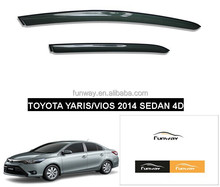 CAR DOOR VISOR RAIN DEFLECTOR FOR TOYOTA YARIS VOIS SEDAN 4DOORS
