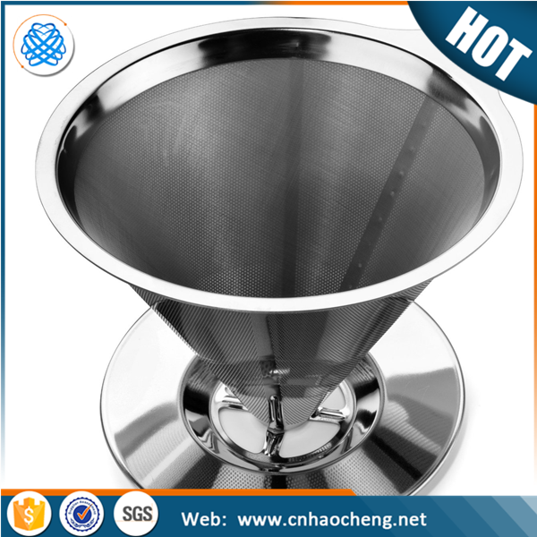 Stainless steel cone hand drip pour over filter clever coffee dripper