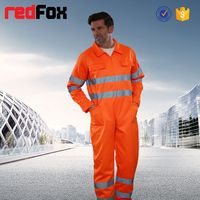 bright color reflective safety two piece overalls