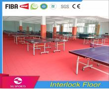 Portable Mobile Interlocking PP indoor table-tennis Court Sports Flooring