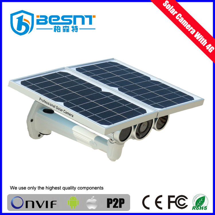 outdoor outdoor wireless solar power camera 4g security ip camera 720p with AA battery (BS-SC08G)