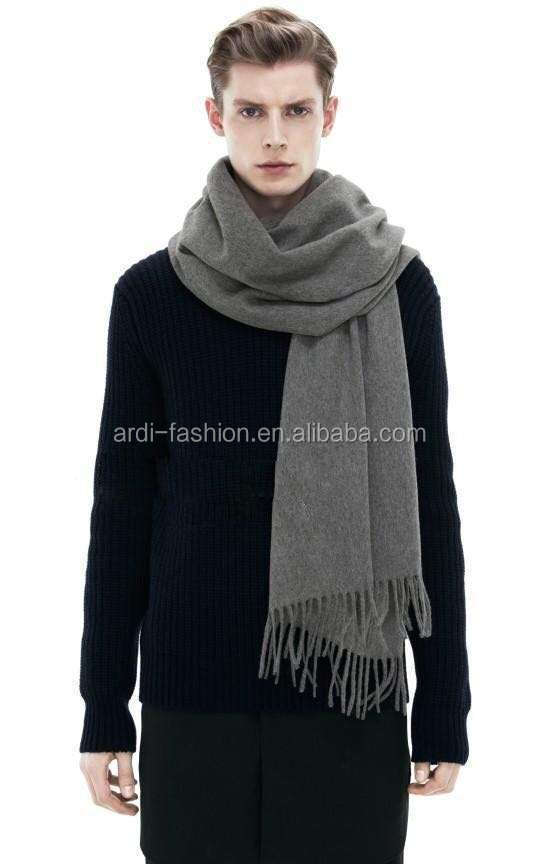 14 colors unisex plain cashmere feel 100 acrylic knitted scarf with tassels