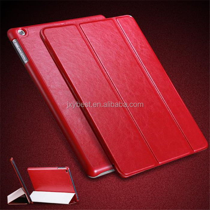 Multi Color Luxury Leather stand flip folio case for ipad air ipad 5 sleep wake up smart magnetic
