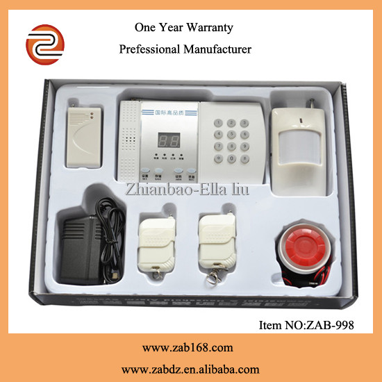 99 zone safe house wireless digital alarm system for home security(ZAB-998)