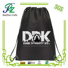 Personalized cheap durable non woven printed drawstring shoe bags
