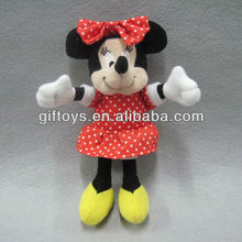 Lovely Plush Minnie Mouse Stuffed Toy with Red Skirt