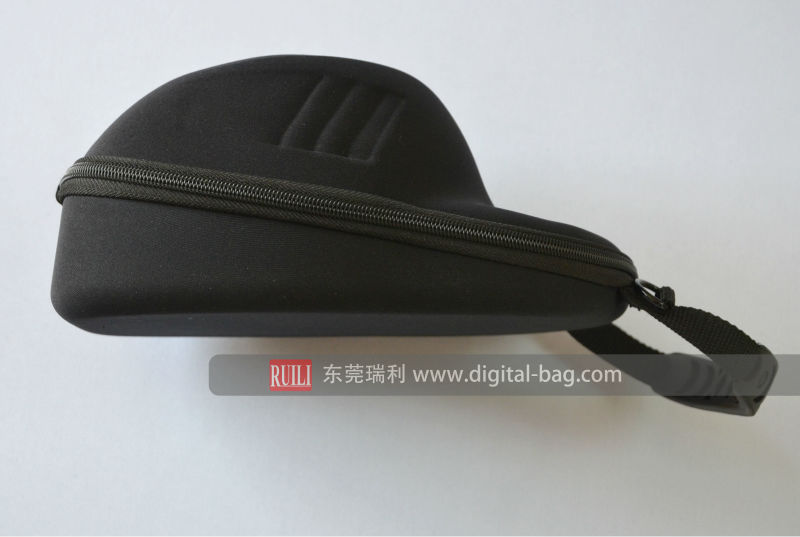 Black embossing logo EVA cap case travel carry hat case for baseball, cap case for storage and traveling