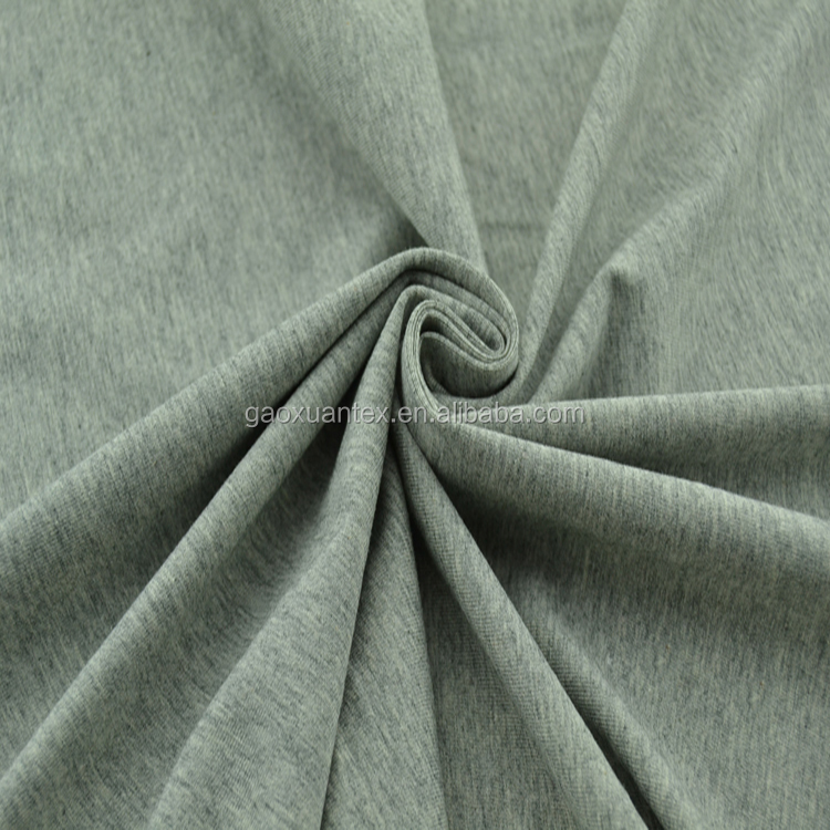 80 cotton 20 polyester sport hoodie cloth fabric grey terry loop CVC fleece fabric