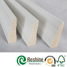 Decorative Primed Baseboard Pine Door Casing Wood Moulding