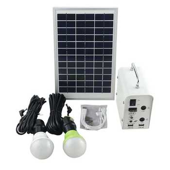 New Product Solar Power Container Home with led lamp and phone charger