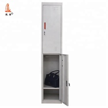 Knock Down Structure Metal Iron Cabinet Two Door Clothes Storage Hostel Lockers