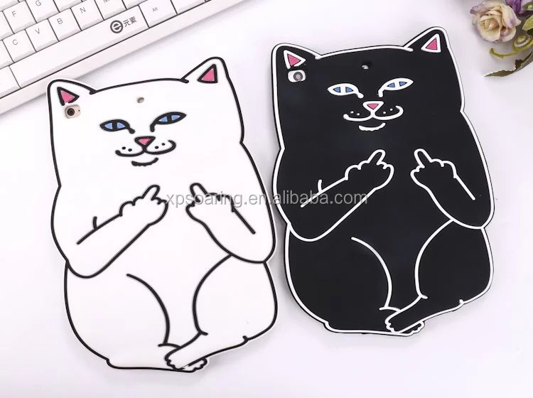 3D cute cat silicone case skin cover for iPad mini 2 3 , smart cat case for iPad mini