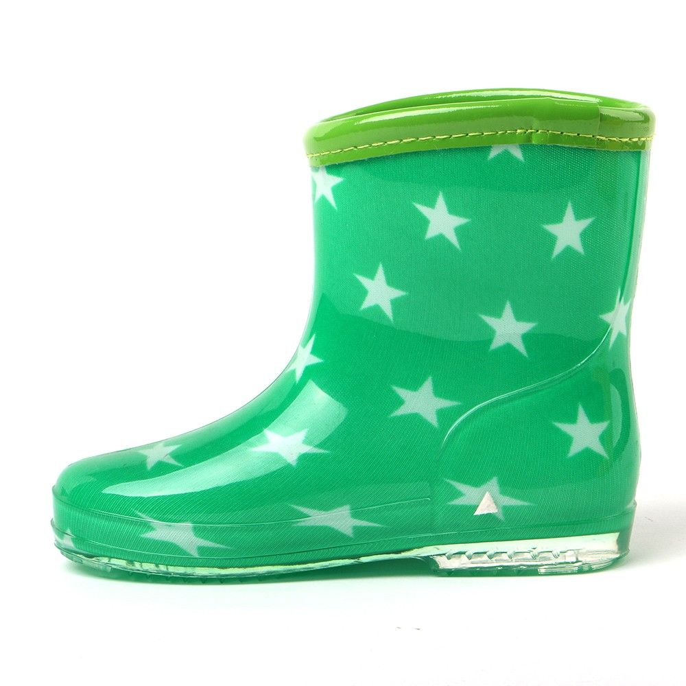 TONGPU High Quality Candy Color Clear PVC Cheap Kids Rain Boots