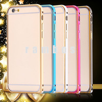 Metal Frame Aluminum Case Slim Protective Cell Phone Skin Hard Cover for iPhone 6 4.7