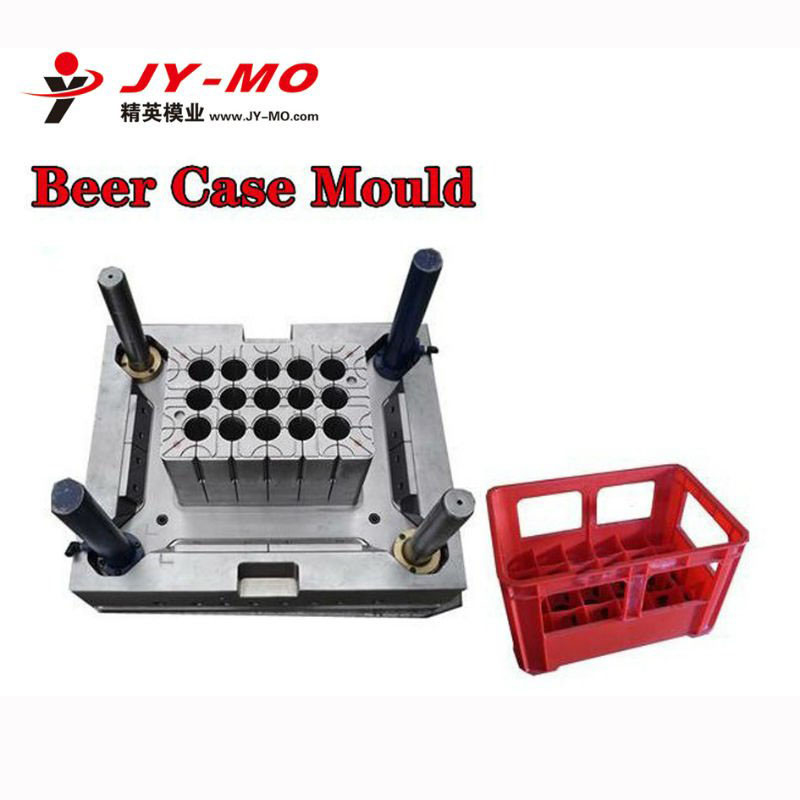 4 cavities plastic beer case/box/crate mould