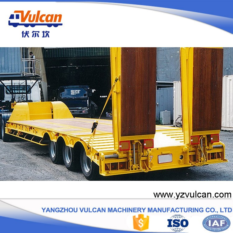 Factory sale machine transport lowbed truck semi-trailer