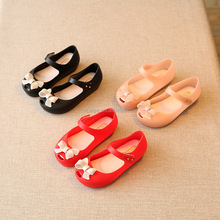 NS0044 hot cute Infant Baby Girls Sandals Children Bowknot Jelly Shoes Summer Toddlers Sandals for kids mini shoes