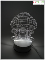 mushroom shape switch colorful flashing 3D night light