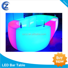 led light up furniture/led bar table/led round table sale