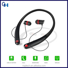 HiGi China supplier Mobile Phone smallest bluetooth Airpod earbuds Super bass self timer photo in-ear earphones with flat cable