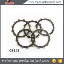 motorcycle parts accessories Clutch plates for JH70 GS125 YB100 JY110