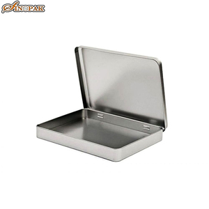 Wholesale hinged rectangular tin cans a5 maxi size file box